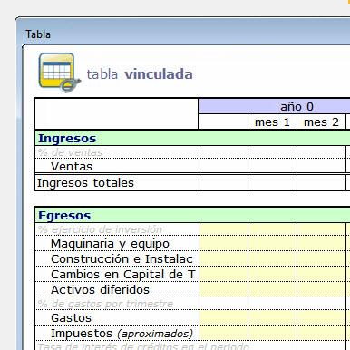 tablas xls generadas automaticamente