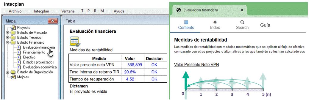interfaz de intecplan software para formulacion de proyectos en español